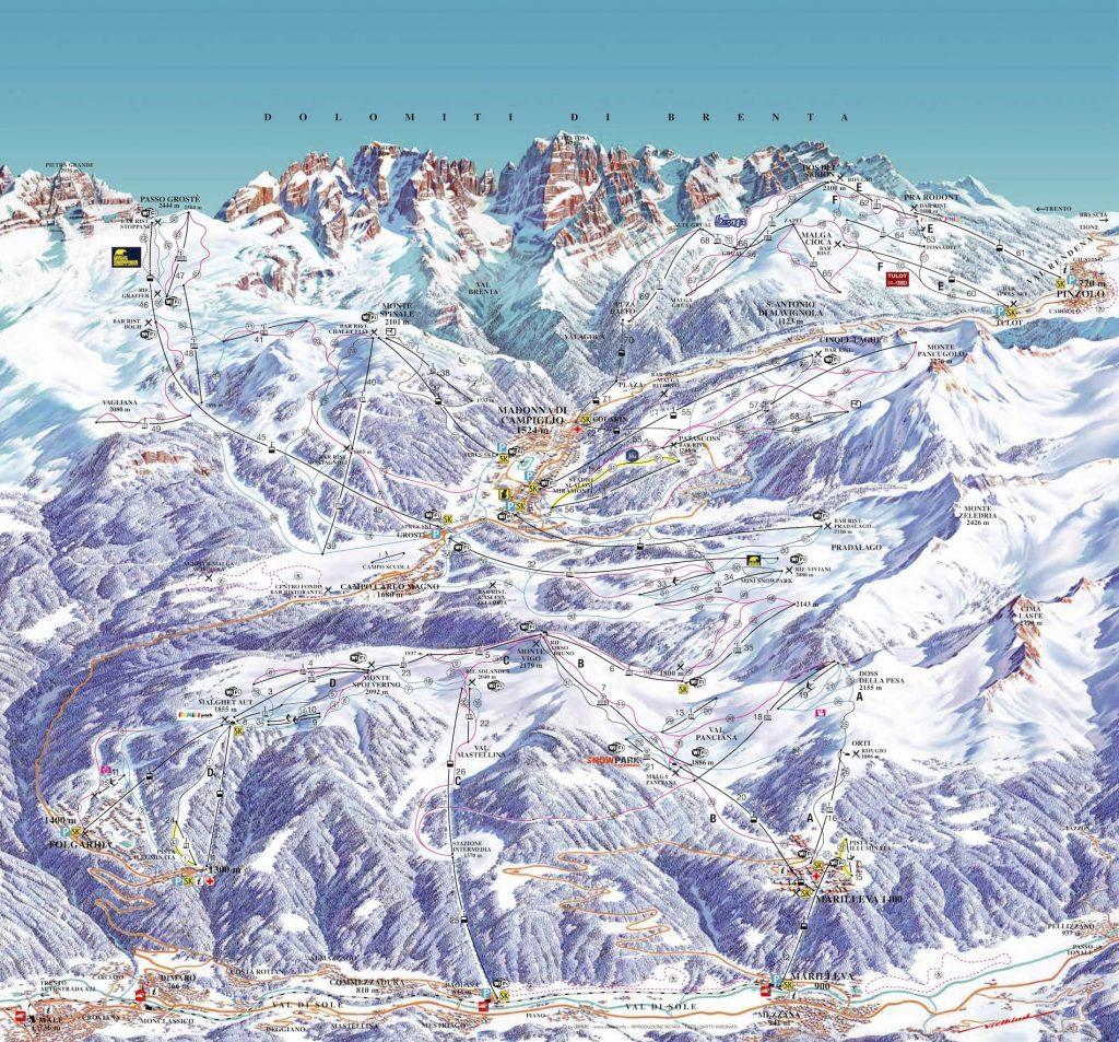 madonna di campiglio skigebied