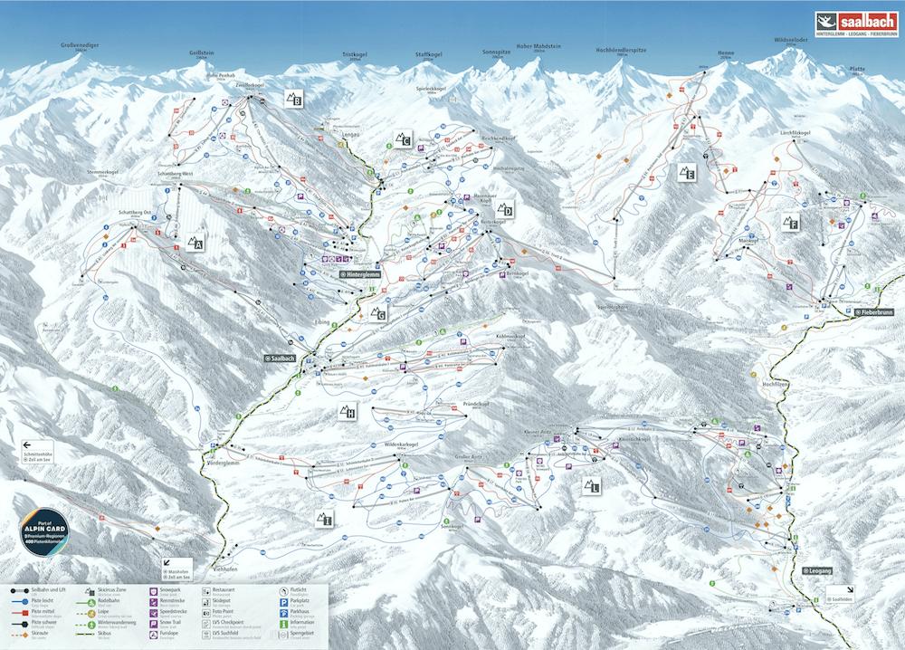 saalbach hinterglemm skigebied