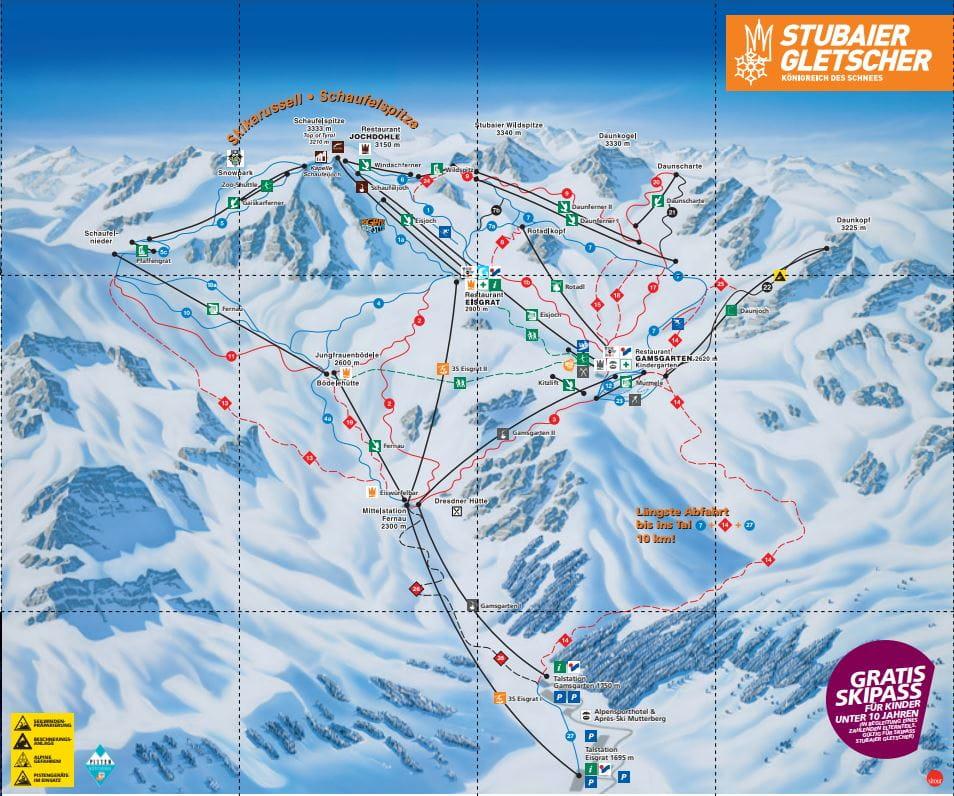 stubai skigebied