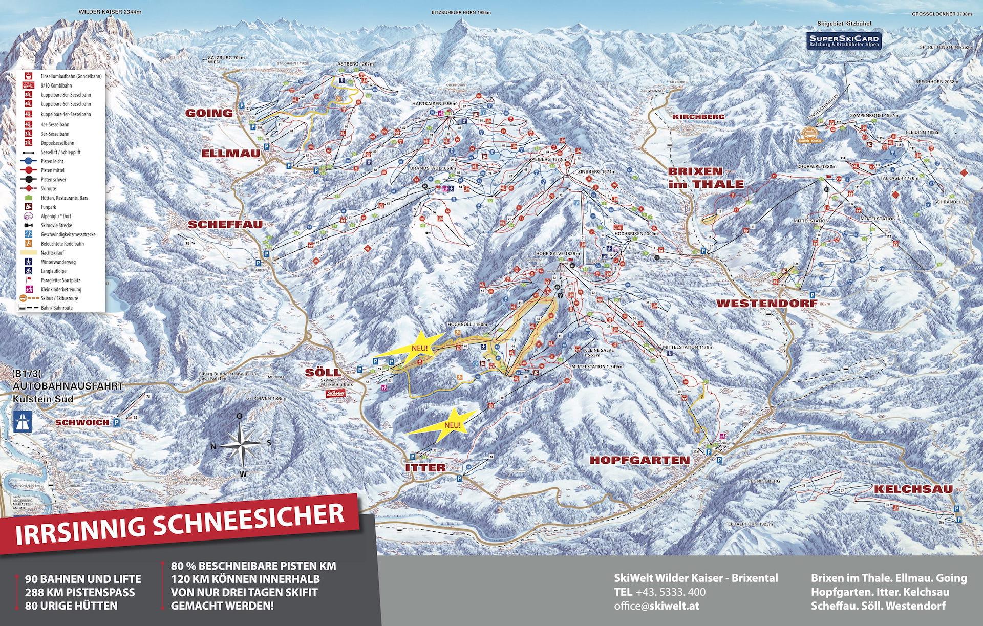 Brixental Wilder Kaiser skimap