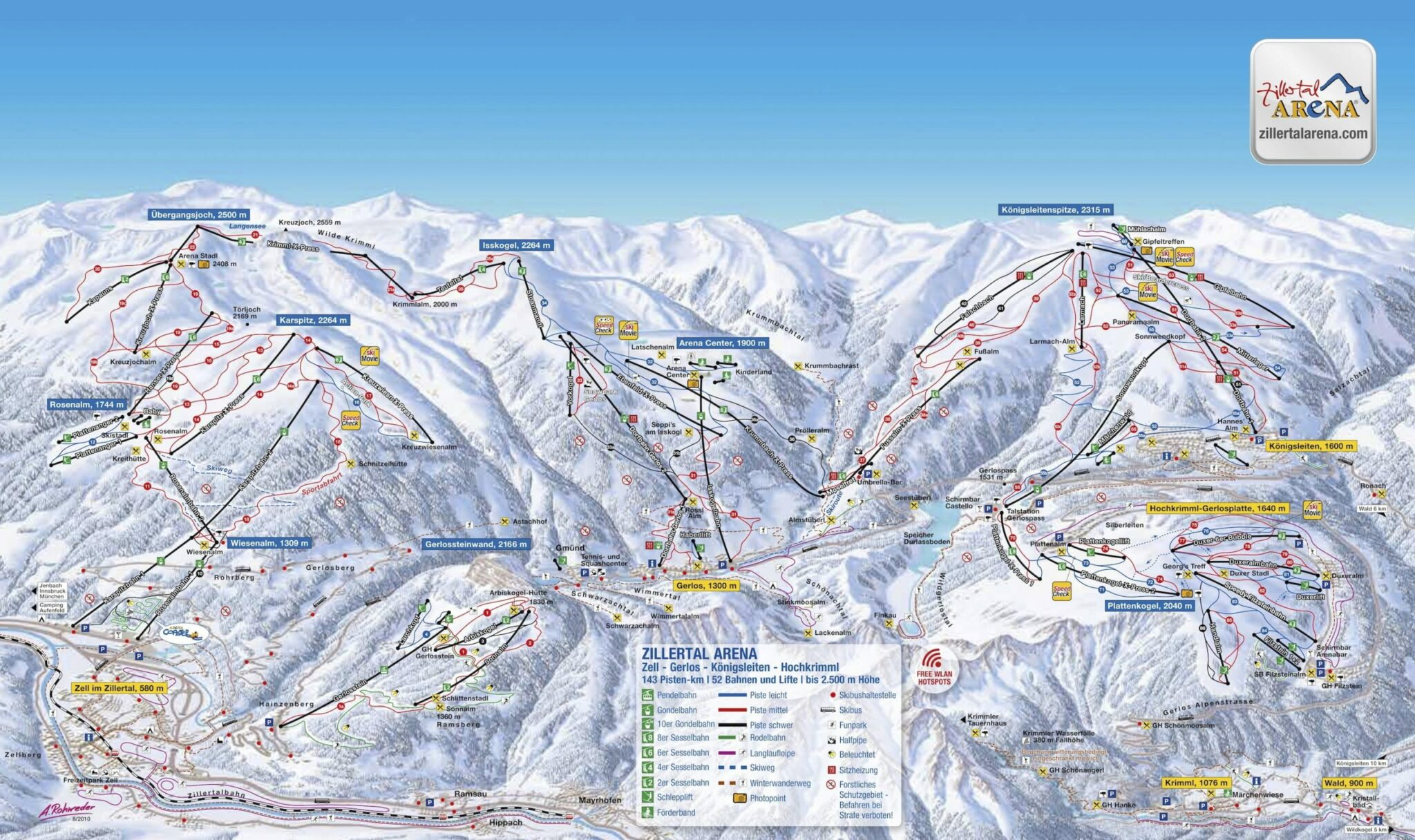 zillertal skigebied
